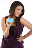 Pretty young woman with credit card Stock Images