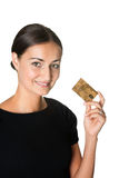 Pretty young woman with a credit card Royalty Free Stock Image
