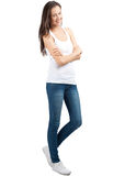 Pretty young woman with crossed arms Stock Image