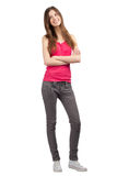Pretty young woman with crossed arms Stock Photo