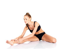 Pretty young woman doing fitness Royalty Free Stock Image