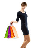 Pretty young woman doing shopping Stock Photos
