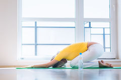 Pretty young woman doing YOGA exercise Royalty Free Stock Photo