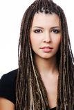 Pretty young woman with dreadlocks Royalty Free Stock Image