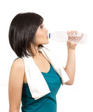 Pretty young woman drinking Royalty Free Stock Images