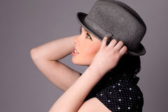 Pretty Young Woman Fashion Stock Images