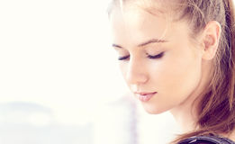 Pretty young woman Stock Images