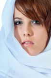 Pretty young woman in headscarf Stock Photography