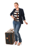 Pretty young woman on her travels Royalty Free Stock Image