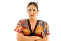 Pretty young woman in kimono Royalty Free Stock Photography