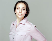 Pretty young woman looking sideways Stock Photography