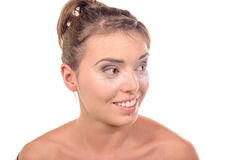 Pretty young woman is make up Royalty Free Stock Photography