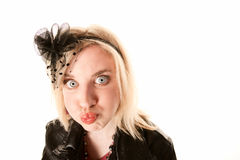 Pretty young woman making a funny face Royalty Free Stock Images