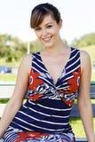 Pretty young woman outdoor stock photos