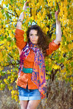 Pretty young woman outdoors Stock Image