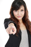 Pretty young woman pointing at you Royalty Free Stock Photography