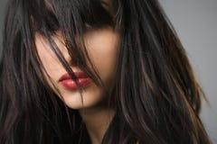 Pretty young woman portrait. stock photo