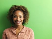 Pretty young woman portrait stock photo
