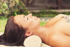 Pretty young woman relax Royalty Free Stock Photos