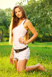 Pretty young woman relaxing Royalty Free Stock Image