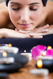 Pretty young woman relaxing at spa Stock Photo