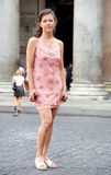 Pretty young woman in Rome Italy Stock Photography