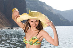 Pretty young woman at the sea Royalty Free Stock Image