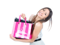 Pretty young woman with shopping bags Royalty Free Stock Image