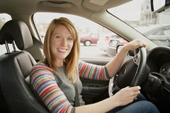woman in car Stock Photography