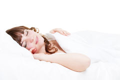 Pretty young woman sleeping Royalty Free Stock Image