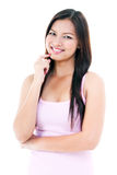 Pretty Young Woman Smiling Stock Photography