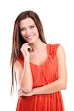 Pretty young woman smiling Royalty Free Stock Images