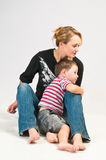 Pretty young woman and son Royalty Free Stock Photography