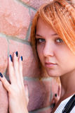 Pretty young woman in sorrow Royalty Free Stock Photos