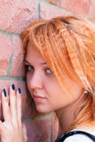 Pretty young woman in sorrow Royalty Free Stock Image