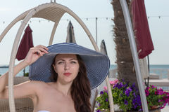 Pretty young woman in summer fashion Royalty Free Stock Image