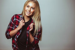 Pretty young woman with sweet smile Royalty Free Stock Photo