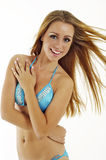 Pretty young woman in swimwear royalty free stock photos