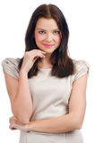 Pretty young woman thinking Royalty Free Stock Photo