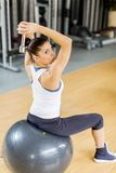 Young woman in the gym Royalty Free Stock Photo