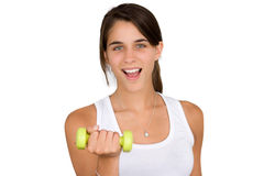 Pretty young woman working out Royalty Free Stock Photos