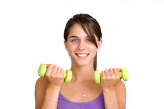 Pretty young woman working out Stock Photos