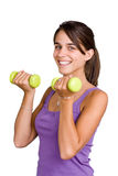 Pretty young woman working out Stock Images