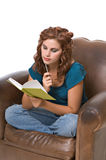 Pretty young woman writing Stock Photography