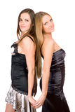 Pretty young women in evening dress Royalty Free Stock Photos