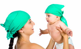 Pretty young women with her son Royalty Free Stock Photos