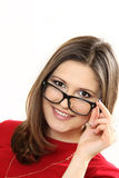 Pretty young women model wearing eyeglasses Royalty Free Stock Images