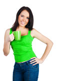 Pretty Young Women With The Cup Of Tea Royalty Free Stock Images