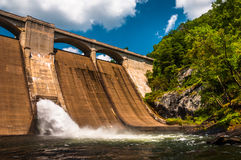 Prettyboy Dam, along the Gunpowder River in Baltimore County, Ma. Ryland Royalty Free Stock Photo