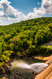 Prettyboy Dam and Gunpowder River, in Baltimore County, Maryland Stock Image